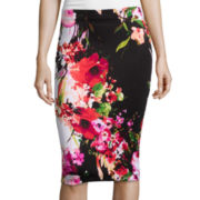 by&by Floral Print Pencil Skirt