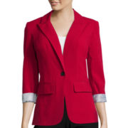 by&by 3/4-Sleeve Blazer Jacket