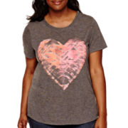 Arizona Drapey Graphic T-Shirt - Juniors Plus