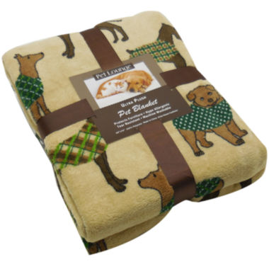 jcpenney.com | Perfect Pet Collection Sweater Dog Print Microplush Throw