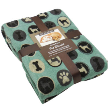 jcpenney.com | Perfect Pet Collection Linear Paws Print Microplush Throw