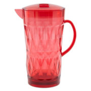Outdoor Oasis™ Diamond Facets Pink Acrylic Pitcher