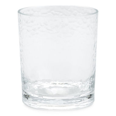 jcpenney.com |  Outdoor Oasis™ Set of 4 Clear Hammered Double Old-Fashioned Glasses