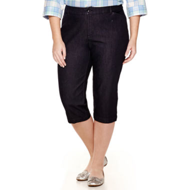 jcpenney.com | St. John's Bay® Secretly-Slender Twill Cropped Pants - Plus