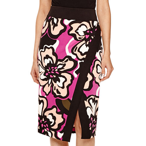 Worthington® Printed Envelope Pencil Skirt