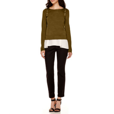 jcpenney.com | Worthington® Grommet Layered Sweater or Slim-Fit Ankle Pants