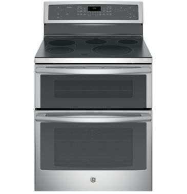 "jcpenney.com | GE Profile™ 30"" 6.6 Cu. Ft. Double Oven Electric Range with Self Cleaning Convection Oven"