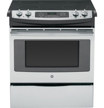 "jcpenney.com | GE® 30"" Slide-In Front Control Electric Range"