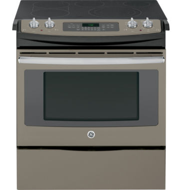 "jcpenney.com | GE® 30"" Slide-In Front Control Electric Range with Convection"