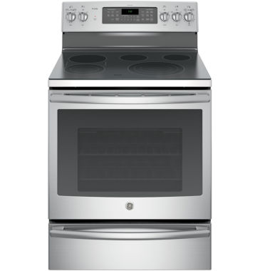 "jcpenney.com | GE Profile™  30""  5.3 Cu. Ft. Electric Range with Convection Oven  and  Warming Drawer"