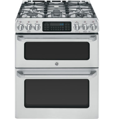 "jcpenney.com | GE Cafe™ 30"" 6.7 Cu. Ft. Double Oven Gas Range with Convection"