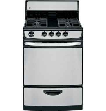 "jcpenney.com | GE® 24"" 3.0 Cu. Ft. Standard Clean Gas Range"