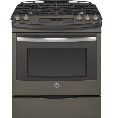 "jcpenney.com | GE® 30"" Slide-In Front Control Gas Range"