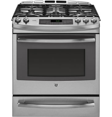 "jcpenney.com | GE Profile™  30"" 5.9 Cu. Ft. Dual Fuel Range with Convection Oven  and  Warming Drawer"