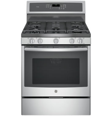 "jcpenney.com | GE Profile™  30"" 5.6 Cu. Ft. Gas Range with Self Cleaning Convection Oven"