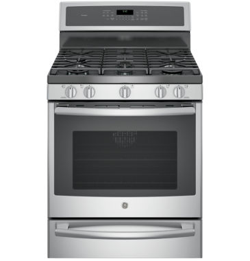 "jcpenney.com | GE Profile™  30"" 5.6 Cu. Ft. Gas Range with Convection Oven and Warming Drawer"
