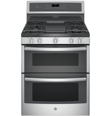"jcpenney.com | GE Profile™  30""  6.8 Cu. Ft. Double Oven Gas Range with Convection"