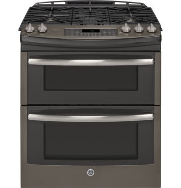 "jcpenney.com | GE Profile™  30"" 6.8 Cu. Ft. Slide-In Double Oven Gas Range"