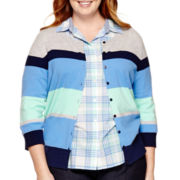St. John's Bay® Button-Front Cardigan Sweater - Plus