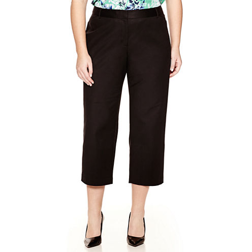 Liz Claiborne® Classic Emma Crop Pants - Plus