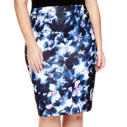 Liz Claiborne® Scuba Skirt - Plus