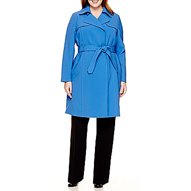 Liz Claiborne® Trench Coat, Flutter-Sleeve Blouse or Suiting Pants
