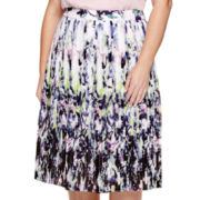 Liz Claiborne® Pleated Woven Skirt - Plus