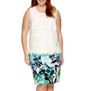 Liz Claiborne® Lace Overlay Tank Top or Pencil Skirt - Plus