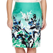 Liz Claiborne® High-Waisted Pencil Skirt - Plus