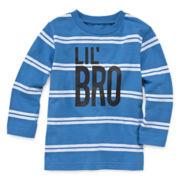 Okie Dokie® Long-Sleeve Striped Tee - Baby Boys newborn-24m