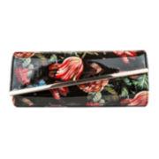 Gunne Sax® Allie Patent Asymmetric Flap Clutch Evening Bag