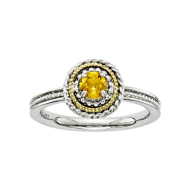 jcpenney.com | Personally Stackable Two-Tone Citrine Ring
