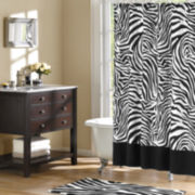 Zebra Microfiber Shower Curtain