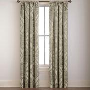 Dubai Damask Rod-Pocket Curtain Panel