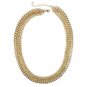 Bold Elements Triple Gold-Tone Link Necklace
