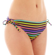 Arizona Multi-Stripe Keyhole Hipster Swim Bottoms
