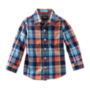 OshKosh B'gosh® Long-Sleeve Plaid Poplin Shirt – Boys 2t-5t