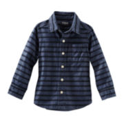 OshKosh B'gosh® Long-Sleeve Striped Chambray Shirt - Boys 2t-5t
