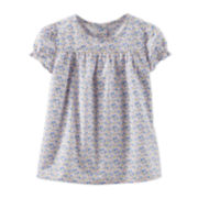 OshKosh B'gosh® Short-Sleeve Floral Top – Girls 2t-5t