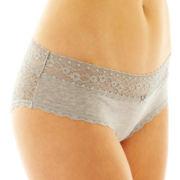 Flirtitude® Lace-Back Hipster Panties