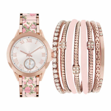 jcpenney.com | Fashion Watches Womens Pink Watch Boxed Set
