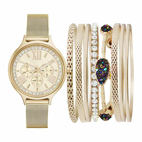 Fashion Watches Gold-Tone Womens Watch Boxed Set