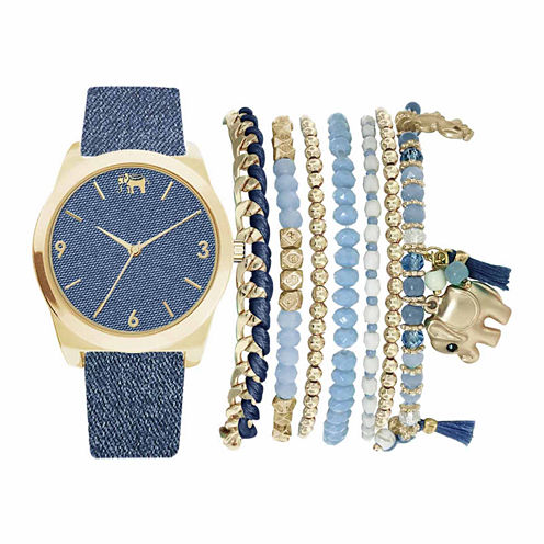 Mixit Womens Blue 9-pc. Watch Boxed Set-Jc2155g569-032