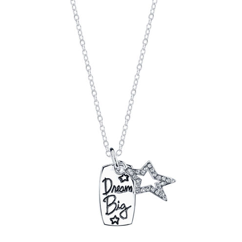 Footnotes Footnotes White Crystal Pendant Necklace