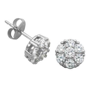 jcpenney.com | Silver Treasures 3/4 CT. T.W. Round White Cubic Zirconia Sterling Silver Stud Earrings