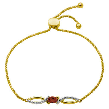 jcpenney.com | Sparkle Allure Womens Orange Diamond Accent Gold Over Brass Bolo Bracelet