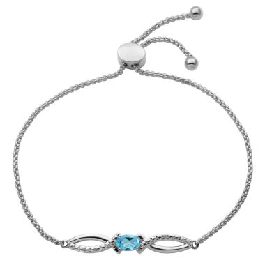 jcpenney.com | Sparkle Allure Womens Multi Color Diamond Accent Silver Over Brass Bolo Bracelet