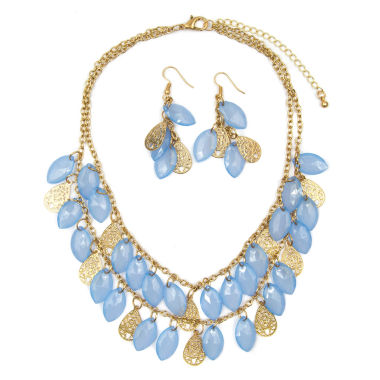 jcpenney.com | Mixit Womens  Blue Teardrop Filigree  Illusion Set