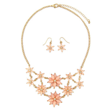 jcpenney.com | Mixit Womens  Pink Flower Mini Statement Jewelry Set