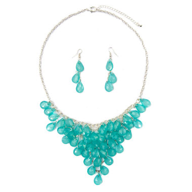 jcpenney.com | Mixit Womens Green Shaky Jewelry Set